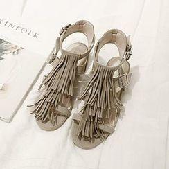 NANING9 - Fringed Sandals