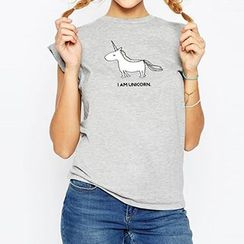 Obel - Printed Short-Sleeve T-shirt
