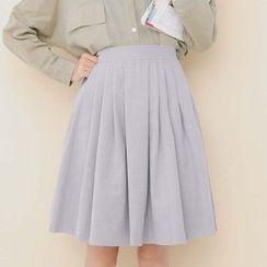 Porta - Plain Pleated Skirt