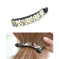 Miss21 Korea - Rhinestone Long Hair Clamp