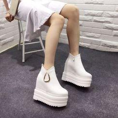 安若 - 厚底內增高踝靴