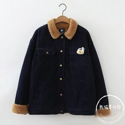 PANDAGO - Snap Button Corduroy Jacket