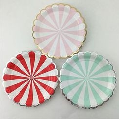 Palmy Parties - Set of 8: Disposable Printed Paper Plate