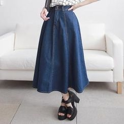 LULUS - Denim Maxi Skirt