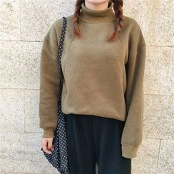 Enocula - Mock-Neck Plain Pullover
