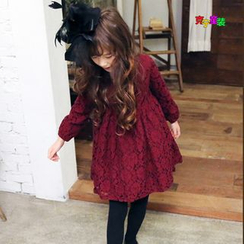 Cuckoo - Kids Long-Sleeve Lace Dress