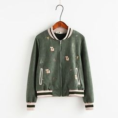 Edelweiss - Embroidered Zip Jacket