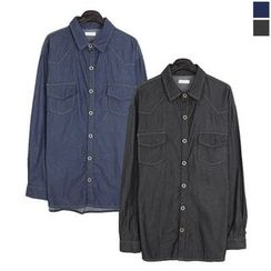 Seoul Homme - Dual-Pocket Denim Shirt