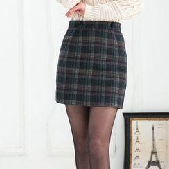潞依韓 - 格子短裙