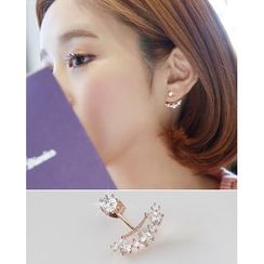 Miss21 Korea - Rhinestone Drop Stud Earrings