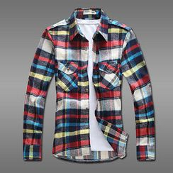 MR.PARK - Dual-Pocket Plaid Shirt