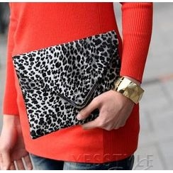 SO Central - Leopard Print Envelope Clutch