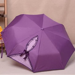 Easily - Lace Trim Foldable Umbrella