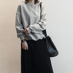 NANING9 - Drop-Shoulder Seam Sweatshirt
