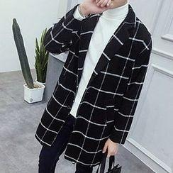 Zeesebon - Window Pane Woolen Coat