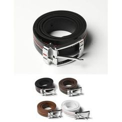 STYLEMAN - Faux-Leather Stitched-Detail Belt