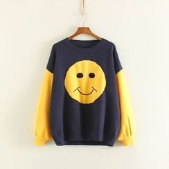 Mushi - Color Block Thick  Sweater