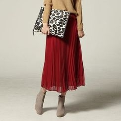 SARAH - Pleated Chiffon Maxi Skirt