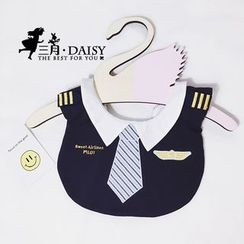 March Daisy - 刺繡口水巾