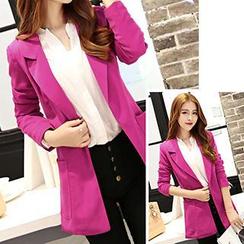 Romantica - Open-Front Long Jacket