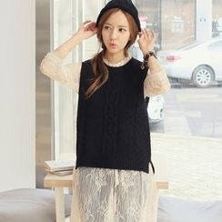 REDOPIN - Sleeveless Cable-Knit Top