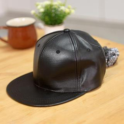 59 Seconds - Faux Leather Baseball Cap