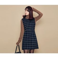 HOTPING - Sleeveless Checked Dress