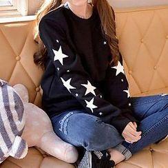 Rocho - 星星贴布绣卫衣