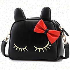 BeiBaoBao - Bow-Accent Cat Crossbody Bag