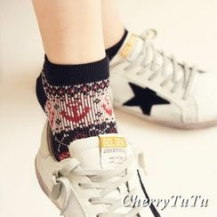 CherryTuTu - Anchor Patterned Low Socks