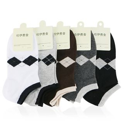 MUMBLE - Argyle Low Socks