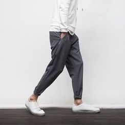 YIDESIMPLE - Slim-Fit Cropped Dress Pants