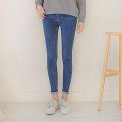 Seoul Fashion - Washed Skinny Jeans