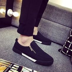 Solejoy - Canvas Zip Loafers
