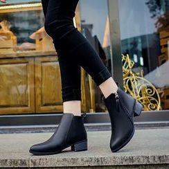 Sunsteps - Block Heel Pointy Short Boots