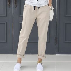 DANI LOVE - Band-Waist Straight-Cut Pants