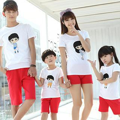 Igsoo - Parents and Kids Print T-Shirt