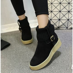 Simply Walk - Knit Panel Short Boots