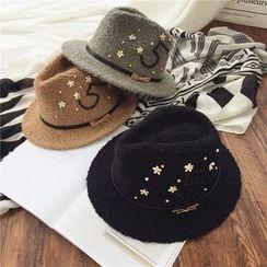 Pompabee - Embellished Fedora Hat