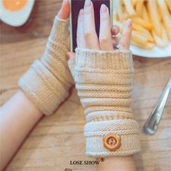 Lose Show - Fingerless Knit Gloves