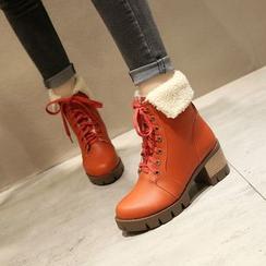 Kireina - 仿皮繫帶及踝靴