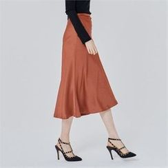 MAGJAY - Zip-Back Midi Skirt