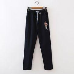 ninna nanna - 刺繡褲