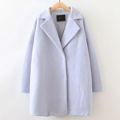 ninna nanna - Plain Lapel Knit Coat