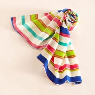 Moonbasa - Striped Chiffon Scarf