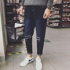 Jimboy - 做舊修身牛仔褲