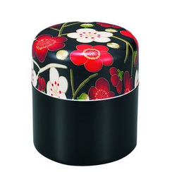 Hakoya - Hakoya Nunobari Tea Caddy S Ume Black