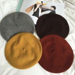 BZY - 純色貝雷帽