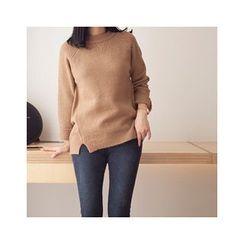 MASoeur - Wool Blend Slit-Hem Sweater