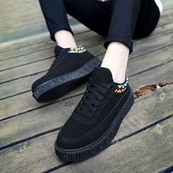 Gerbulan - Braid Lace Up Sneakers
